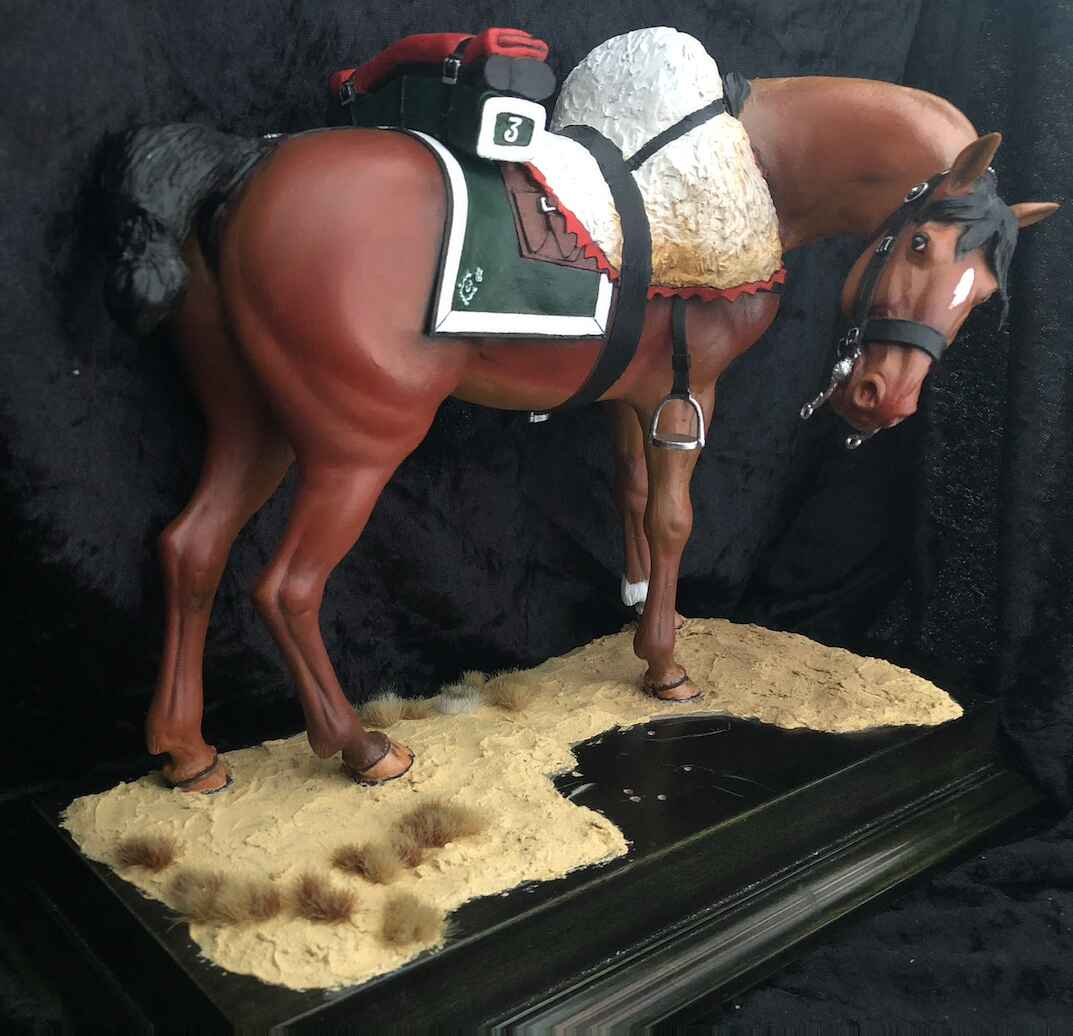 Cheval cuirassier 180mm0